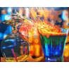 Законченная работа Огненные коктейли Алмазная картина-раскраска Color Kit