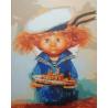 Раскрашенная работа Домовёнок-морячок Раскраска картина по номерам на холсте