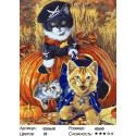 Игривые котята Раскраска картина по номерам на холсте