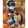Игривые котята Раскраска картина по номерам на холсте GX5618
