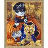 В рамке N118 Игривые котята Раскраска картина по номерам на холсте