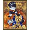 В рамке N134 Игривые котята Раскраска картина по номерам на холсте