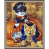 В рамке N143 Игривые котята Раскраска картина по номерам на холсте