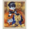 В рамке N166 Игривые котята Раскраска картина по номерам на холсте