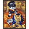 В рамке N181 Игривые котята Раскраска картина по номерам на холсте