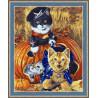 В рамке N182 Игривые котята Раскраска картина по номерам на холсте