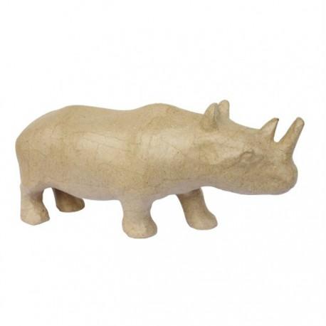 Носорог 25х7,2х11 Фигурка из папье-маше объемная