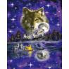 Ночь волка Раскраска картина по номерам на холсте GX5545