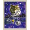 В рамке N166 Ночь волка Раскраска картина по номерам на холсте