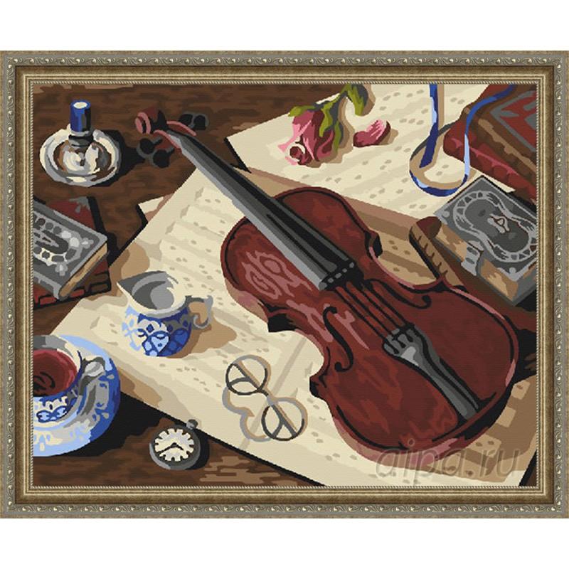 Gx22450 скрипка маэстро раскраска картина по номерам на