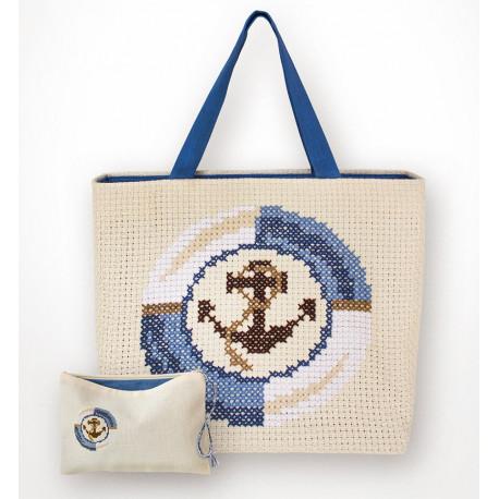 Якорь Набор для вышивания сумки с кошельком LUCA-S 003Bag