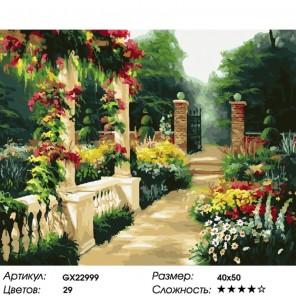 Количество цветов и сложность Тенистый сад Раскраска картина по номерам на холсте GX22999