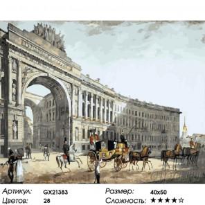 Дворцовая площадь Раскраска картина по номерам на холсте