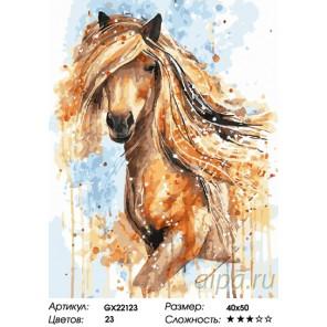 Количество цветов и сложность Рыжая лошадь Раскраска картина по номерам на холсте GX22123