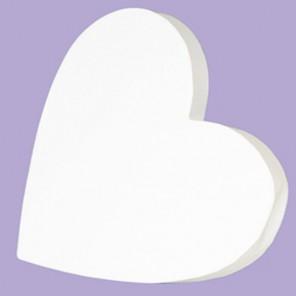 Сердечко Фигурка из картона белая