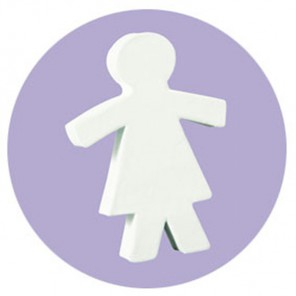 Девочка Фигурка из картона белая