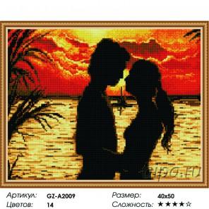 Сложность и количество цветов  На закате Алмазная мозаика вышивка на подрамнике GZ-A2009