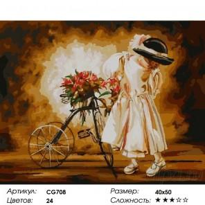 Маленькая леди Раскраска картина по номерам на холсте Color Kit