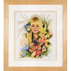 Spring flower girl Набор для вышивания LanArte PN-0008223