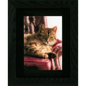 Relaxed Tabby Набор для вышивания LanArte PN-0021762