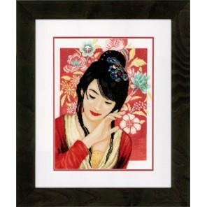 Asian flower girl Набор для вышивания LanArte PN-0150000