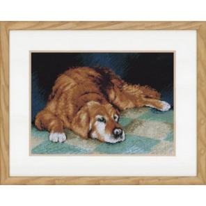 Sleeping dog Набор для вышивания LanArte PN-0147568