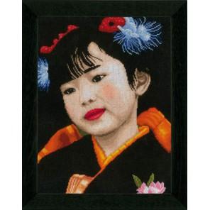 JAPANESE GIRL Набор для вышивания LanArte PN-0021214