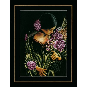 Woman & flowers Набор для вышивания LanArte PN-0165378