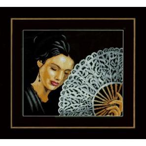 Woman with a Fan Набор для вышивания LanArte PN-0154330
