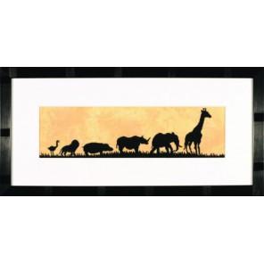 Parade Of Wild Animals Набор для вышивания LanArte PN-0008168
