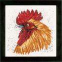 Brown rooster Набор для вышивания LanArte