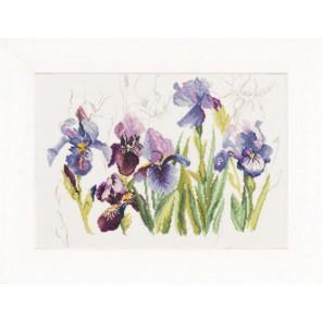 Tripych Blue Flowers - Irisses Набор для вышивания LanArte PN-0008027