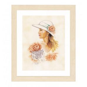 Lady with hat Набор для вышивания LanArte PN-0162297