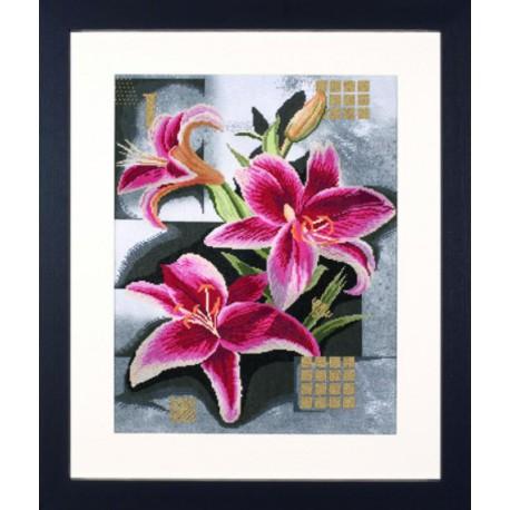 Composition Of Pink Lilies Набор для вышивания LanArte PN-0008291