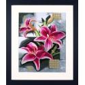 Composition Of Pink Lilies Набор для вышивания LanArte