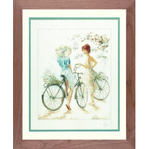 Girls On Bicycle Набор для вышивания LanArte PN-0007949