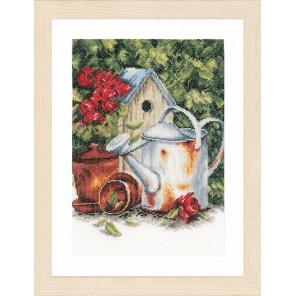 Watering can & birdhouse Набор для вышивания LanArte PN-0167124