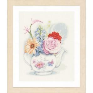 Flowers in teapot Набор для вышивания LanArte PN-0155692