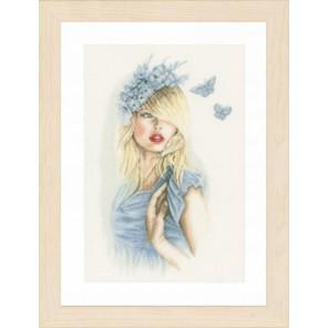Blue butterflies Набор для вышивания LanArte PN-0155691