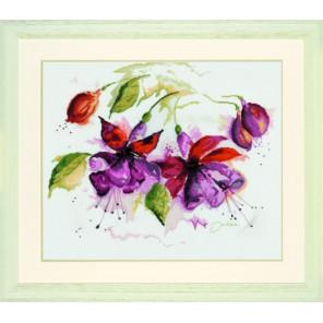 Fuchsia In Watercolour Набор для вышивания LanArte PN-0008026