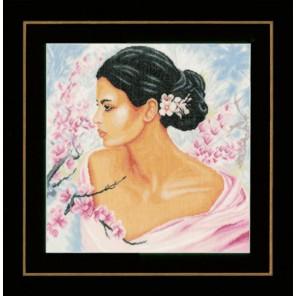 Lady with blossoms Набор для вышивания LanArte PN-0155690