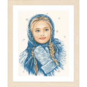 Winter Girl Набор для вышивания LanArte PN-0169674