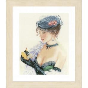 Lady with Lipstick Набор для вышивания LanArte PN-0154332