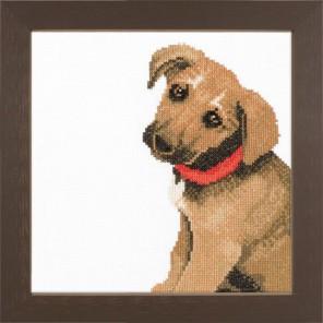 Adorable puppy Набор для вышивания LanArte PN-0008142