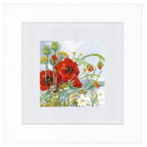 Poppies Набор для вышивания LanArte PN-0146360