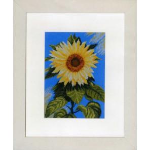 Sunflower on Blue Набор для вышивания LanArte PN-0008114