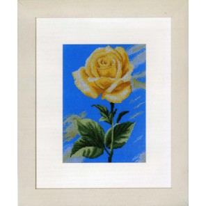 Yellow Rose on Blue Набор для вышивания LanArte PN-0008115