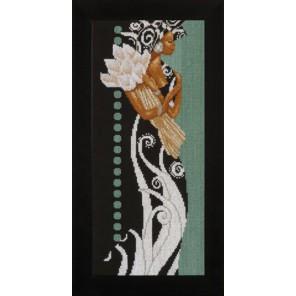 African Lady with Flowers Набор для вышивания LanArte PN-0008187