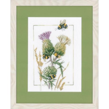 Thistle Bees Набор для вышивания LanArte PN-0021621
