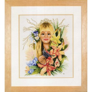 Spring flower girl Набор для вышивания LanArte PN-0007944